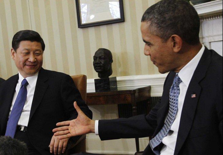Xi Jinping (stânga) și Barack Obama (dreapta)
