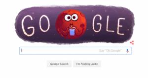 Google sărbătoreşte descoperirea apei pe Marte printr-un Google Doodle