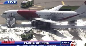 Incendiu la aeroport: un avion a luat foc. Mai multe persoane au fost rănite