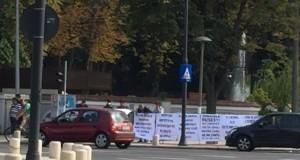 Protest la Ambasada Rusiei din Bucureşti. Se cere încetarea intervenției în Siria