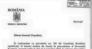 FOTO. Cum arată demisia lui Victor Ponta