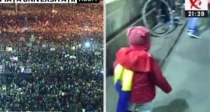 Cea mai emoţionantă imagine de la protestul din Centrul Capitalei