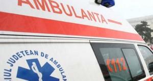 Accident în curtea unui spital: o ambulanță a retezat o conductă de gaz