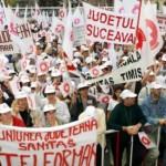 """Medicii protestează în faţa Ministerului de Finanţe: """"Sigur vom ajunge la grevă"""""""