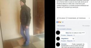 """Alertă în Sibiu! Acest bărbat a semănat teroare în cartierele din oraş: """"Distribuiţi ca să îl prindem pe nenorocit"""". Ce face individul după ce bate la uşile oamenilor"""