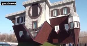 Cea mai ciudată casă se află în Rusia. Este cea mai mare locuinţă din lume aşezată cu susul în jos
