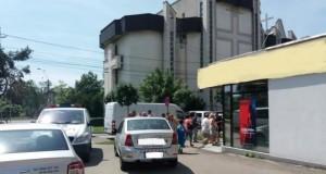 Jaf armat la o bancă din Baia Mare, oraşul este împânzit de poliţie