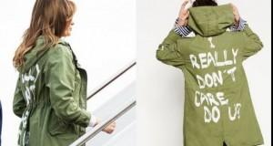 Melania Trump, pusă la zid pentru jacheta purtată la graniţa cu Mexicul