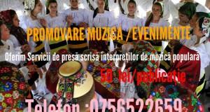 Nou pentru artiștii de muzică populară din Maramureș -Ofertă pentru promovare muzicală