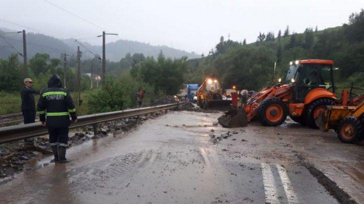 DN 17, între Ardeal și Moldova, blocat complet din cauza inundațiilor / Foto: realitateadesuceava.net