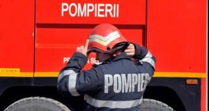 Incendiu puternic la un depozit de mase plastice din Ploieşti