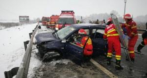 Accident grav în Sibiu. Planul roşu de intervenţie, activat