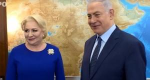 """VIDEO Netanyahu: """"Sper să vă mutaţi ambasada la Ierusalim"""". Dăncilă: """"Mulțumesc!"""""""