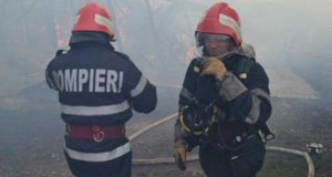 Explozie urmată de un incendiu la un cămin de nefamilişti din Iaşi (VIDEO)