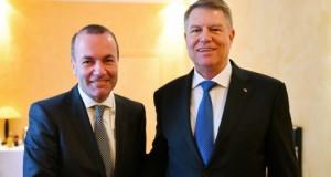 Iohannis, întâlnire cu liderul celui mai mare grup politic din Parlamentul European
