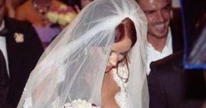 Bianca Dragusanu a imbracat din nou rochia de mireasa. Victor Slav i-a fost alaturi. Vezi cum arata