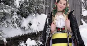 """Noutăți în lumea muzicii populare maramureșene  -Interpreta Madălina Gampe ne surprinde cu colinda """"Crăciunul o zinit"""""""